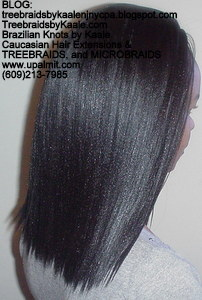 Tree Braids by Kaale- Cornrows with Straight Yaky hair Right2744.