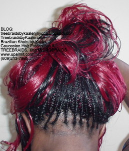 Tree Braids by Kaale- Cornrows with Double Breasted style Back2750.