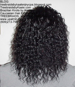 Tree Braids by Kaale- cornrow treebraids with Brazilian hair from RemyHairSales.com, Back.