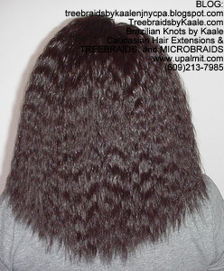 Tree Braids by Kaale- Double Breasted Cornrows with Spanish bulk human hair Back2754.