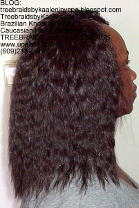 Tree Braids by Kaale- Double Breasted Cornrows with Spanish bulk human hair Right2755.