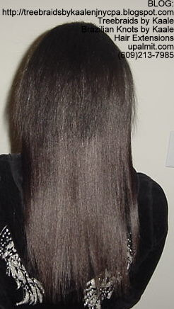 Track or Weft hair extensions- AFTER.