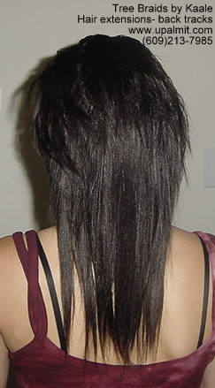 Straight hair extensions- Back10.