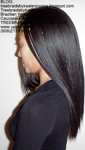 Tree Braids by Kaale- Cornrows with Straight human hair Left.