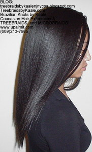 Tree Braids by Kaale- Cornrows with Straight human hair Right.