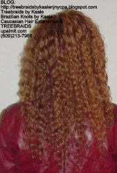 Tree Braids by Kaale- cornrow treebraids with wavy deep bulk human hair Back61614.