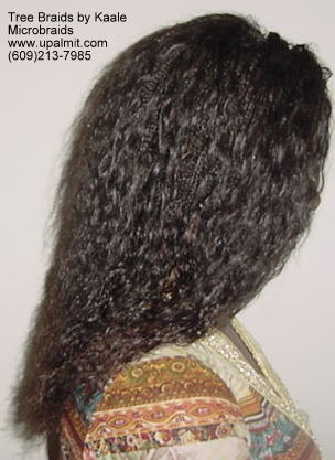 Microbraids, right side 9.
