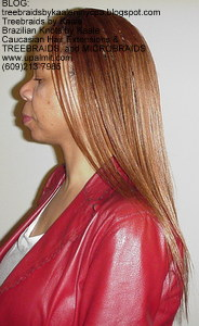 Tree Braids by Kaale- Cornrows with Straight human hair Left2747.