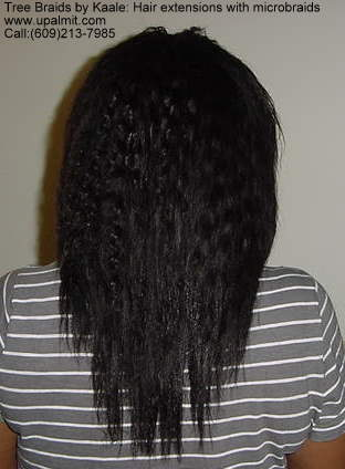 Hair extensions with braids 1.