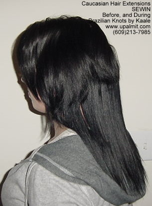 Treebraids by Kaale- straight hair extensions Cai BEFORE, L.