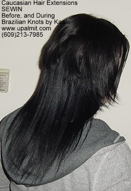 Treebraids by Kaale- straight hair extensions Cai BEFORE, R.