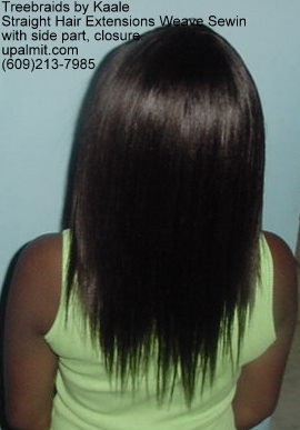 Straight hair extensions, Sewin- Back12.