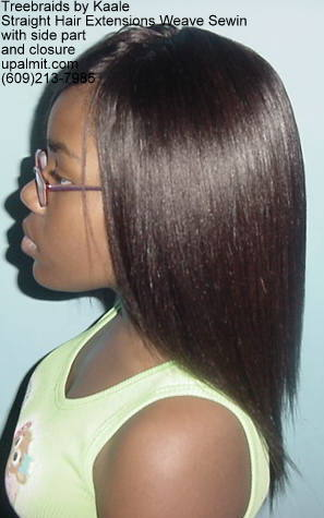 Straight hair extensions, Sewin- L12.