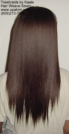 Straight hair extensions, Sewin- Back11.