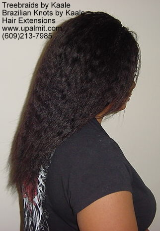 Track hair extensions with braids 4a.