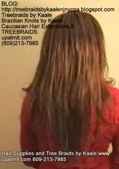 Tree Braids- Cornrows with straight human hair Back2260.