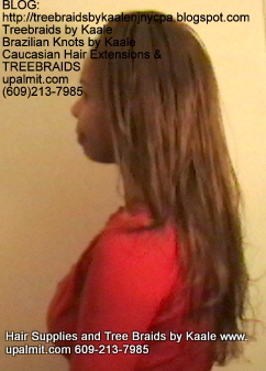 Tree Braids- Cornrows with straight human hair Left2261.