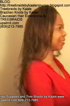 Tree Braids- Cornrows with straight human hair Right2262.