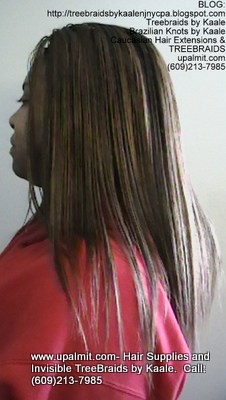 Tree Braids- Cornrows with straight human hair Left2309.