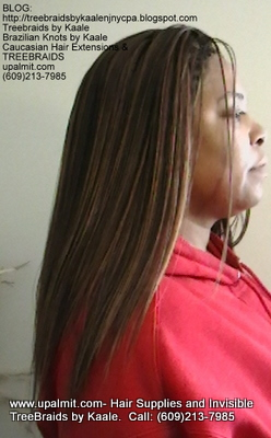Tree Braids- Cornrows with straight human hair Right2310.