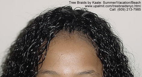 Summer, vacation, and beach wet and wavy Tree Braids.