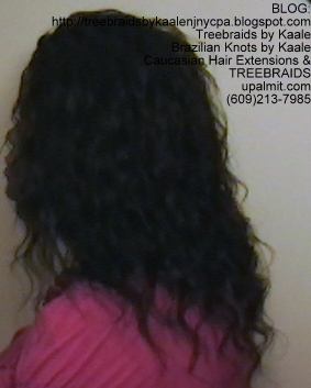 Tree Braids- Individuals, Small size- with Wavy human hair Left2240.