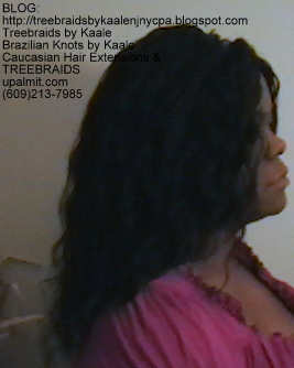 Tree Braids- Individuals, Small size- with Wavy human hair Right2241.