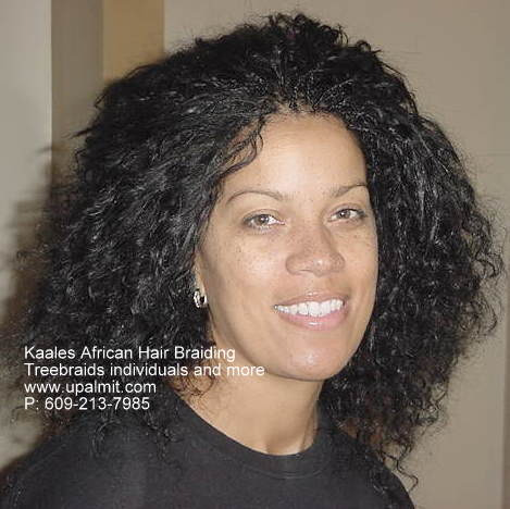 Treebraids individuals, front view Kaales African hair braiding.