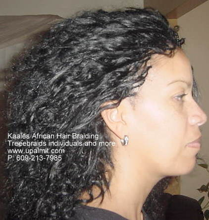 Treebraids individuals, side view Kaales African hair braiding.