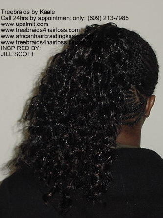 Treebraids in NJ inspired by Jill Scott- back view.