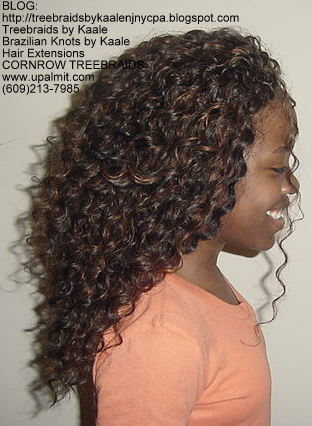 Tree Braids using KAALE Brand Deep Bulk human hair Right215.