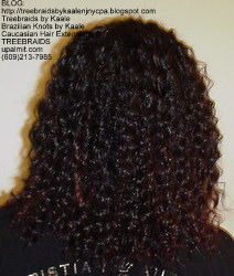 Tree Braids by Kaale- Cornrows with Straight Yaky hair BackStr B.