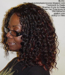 Tree Braids by Kaale- Cornrows with Straight Yaky hair LeftStr B.