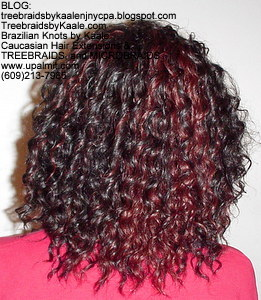 Tree Braids by Kaale- Cornrows with Deep Bulk hair Back2611.