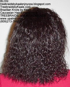 Tree Braids by Kaale- Cornrow treebraids with wet and wavy hair Back 4yrs.