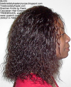 Tree Braids by Kaale- Cornrow treebraids with wet and wavy hair Right 4yrs.
