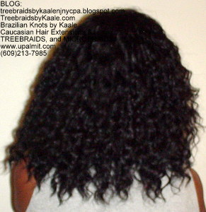 Tree Braids by Kaale- Cornrow treebraids with deep bulk hair Back4yrs.