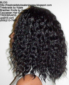 Tree Braids by Kaale- Cornrow treebraids with deep bulk hair Left4yrs.