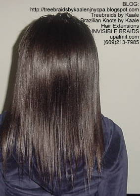 Microbraids- Invisible Braids are braided a little, then let loose- Back73.