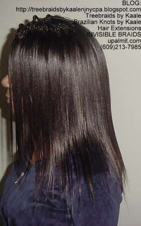 Microbraids- Invisible Braids are braided a little, then let loose- Left75.