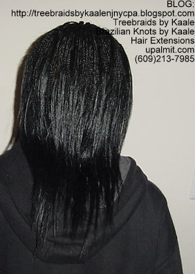 Microbraids, also spelled Micro Braids- Back.