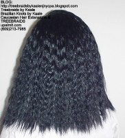 Tree Braids with KAALE Brand Wet n Wavy human hair Back366.