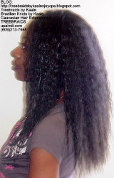 Tree Braids with KAALE Brand Ripple human hair Left371.