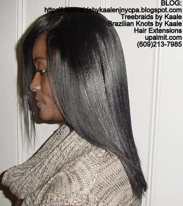 Track or Weft hair extensions- Left.