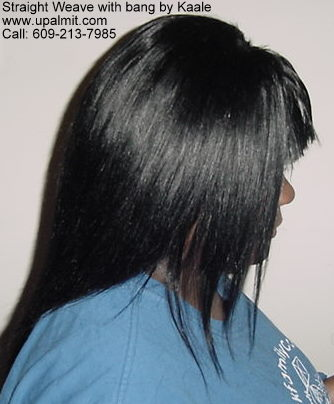Hair extensions with bang.