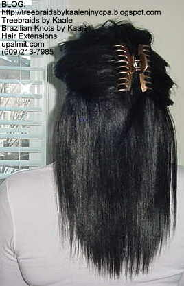 Weft or Track hair extensions- Back.
