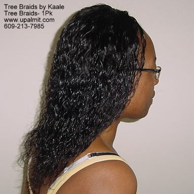 Summer, vacation, and beach wet and wavy Tree Braids, 1PK hair.