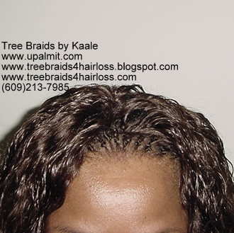 Summer, vacation, and beach wet and wavy Tree Braids- top.