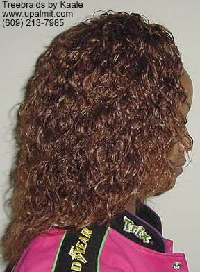 Wet and wavy treebraids, right side view.