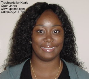 Wet and wavy treebraids hair styles with invisible part.